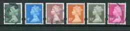 GRANDE BRETAGNE- Y&T N°1961 à 1966- Oblitérés - Usati