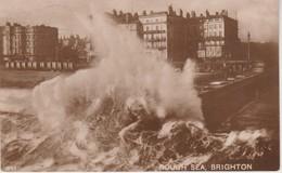 (ANG675)  BRIGHTON. ROUGH SEA - Brighton