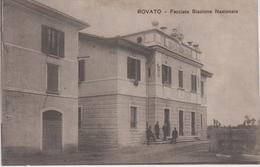 CPA Rovato - Facciata Stazione Nazionale (avec Petite Animation) - Italia