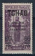 "Chad, 60c./75c., Overprint ""Afrique Equatoriale Francaise"", 1924, MH VF - Chad (1922-1936)"