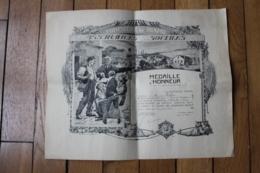 Diplome  Médaille D'honneur    1928 - Diplômes & Bulletins Scolaires