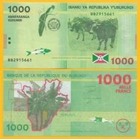 Burundi 1000 Francs P-51 2015 (Prefix BB) UNC - Burundi
