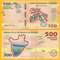 Burundi 500 Francs P-50 2015 (Prefix AB) UNC - Burundi