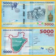 Burundi 5000 Francs P-53 2015 UNC - Burundi