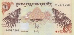 BHUTAN 5 NGULTRUM -UNC - Bhoutan