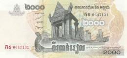 CAMBOGIA 2000 RIELS (2) -UNC - Cambogia