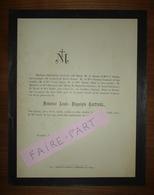 FAIRE-PART DECES 1885 CASTINEL BIZOT ROZAN CHIEUSSE RONIT Venelles Aix Provence - Overlijden