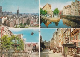 GDANSK. FONTANNA NEPTUNA, FOT K JABLONSKI. BIURO WYDAWNICZO. MULTI VUE VIEW CIRCA 1980s POLAND- BLEUP - Polen