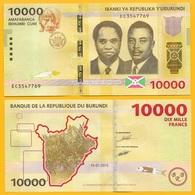 Burundi 10000 (10,000) Francs P-54 2015 UNC - Burundi