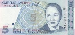 KIRGHIZISTAN 5 SOM -UNC - Kirghizistan