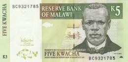 MALAWI 5 KWACHA -UNC - Malawi