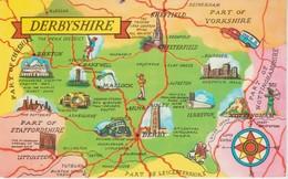 (ANG680)  DERBYSHIRE. MAP - Derbyshire