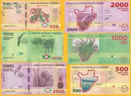 Burundi Set 500, 1000, 2000 Francs P-50, 51, 52 2015 UNC - Burundi