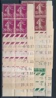 CE-114: FRANCE: Lot Avec Coins Datés** Semeuses Camées N°159(3)-189(6)-190(9) - 1930-1939