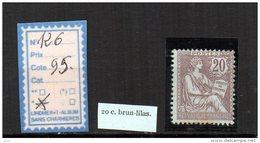FRANCE A CHARNIERE * 126 - 1900-02 Mouchon