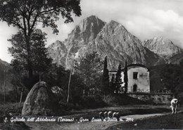 S.GABRIELE DELL ADDOLORATA-TERAMO-GRAN SASSO D ITALIA-VERA FOTO-  VIAGGIATA 1963  F.G - Teramo