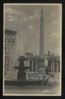 *Roma. Fontana Ed Obelisco In Piazza S. Pietro* Ed. Grafia Nº 60139. Nueva. - Vaticano (Ciudad Del)