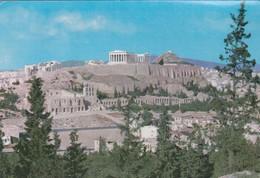 ATHENES. VUE DE L'ACROPOLE. A HASSID SA. CIRCA 1967 CIRCULEE ARGENTINE AUTRES MARQUES- BLEUP - Griekenland