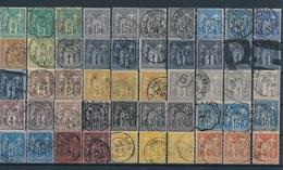 """CG-107: FRANCE: Lot """"SAGE"""" 1ème Choix, Belles Oblitérations - 1945-54 Marianne De Gandon"""