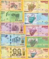 Burundi Full Set 500 1000 2000 5000 10000 P-50 - P-54 2015 UNC - Burundi