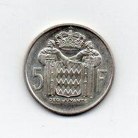Monaco - 1966 - 5 Franchi - Principe Ranieri III° - Argento - Vedi Foto - (MW1737) - Monaco