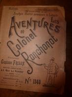 1923 LES AVENTURES DU COLONEL RONCHONOT ---> Les 12 Tonneaux De Pinard; Etc - Livres, Revues & Catalogues