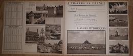 """: Vieux Papier : Protège Cahier Non Plié : CAEN """" La Maison Du Biscuit """" , Le Mont Saint Michel,saumur,,breton,menhirs - Papel Secante"""