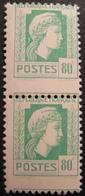 R1692/248 - 1944 - TYPE MARIANNE D'ALGER - N°636 + N°636c NEUFS** - VARIETE ➤➤➤ Piquage à Cheval - Cote : 55,00 € - Variétés Et Curiosités
