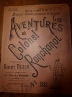1923 LES AVENTURES DU COLONEL RONCHONOT ---> La Double Méprise Avec La Sidonie..... - Boeken, Tijdschriften & Catalogi
