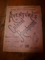 1923 LES AVENTURES DU COLONEL RONCHONOT ---> Le Perroquet Blanc...... - Libros, Revistas & Catálogos