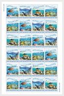 H01 Netherlands Sint Maarten 2018 Ocean Life Turtles Fish Corals MNH ** - Curaçao, Antille Olandesi, Aruba