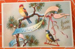 Bonne Anne Buon Natale Uccelli Birds MIGNONETTE Biglietto Auguri - Nouvel An
