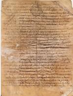 Acte Notarial Manuscrit Sur Parchemin Cachet Généralité Orléans Vente Maison Vouzon Lamotte Sur Beuvron 4 Pages 1768 - Cachets Généralité