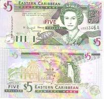 East Carribean  P-31a  5 Dollars  1994  UNC - Caraïbes Orientales