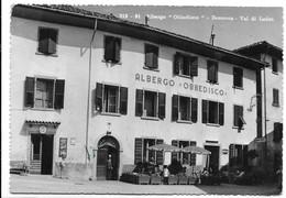 """Bezzecca (Trento). Albergo """"Obbedisco"""". Insegna Rivendita Sali E Tabacchi A Sinistra. - Trento"""