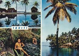 TAHITI. MULTI VUE VIEW VISTA. PHOTO MARC LABAYSE.FEMME NU NUDE TITS CIRCA 1974 CIRCULEE ARGENTINE TIMBRE ARRANCHE- BLEUP - Tahiti