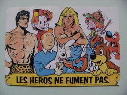 Autocollant Tintin.Spirou & Leurs Amis - Publicité Contre Le Tabac -  A Voir ! - Pegatinas