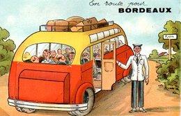 Carte A Systeme En Route Pour Bordeaux En Bon état - Bordeaux