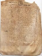 Acte Notarial Manuscrit Sur Parchemin Cachet Généralité Orléans Vente Maison Vouzon Loir Et Cher 4 Pages 17ème 1673 - Cachets Généralité