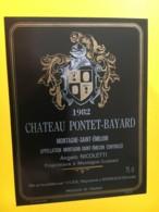 8987 -  Château Pontet-Bayard 1982 Montagnes Saint-Emilion - Bordeaux