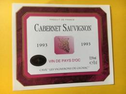8988 - Cabernet Sauvignon 1993 Les Vignerons De Gignac - Vin De Pays D'Oc