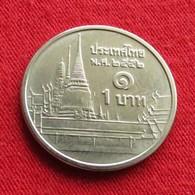 Thailand 1 Baht 2009 / 2552  Y# 443  Lt 78  Tailandia Thailande - Thaïlande