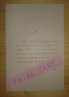 FAIRE-PART MARIAGE 1848 THOMAS # COSNARD Passy Paris - Mariage