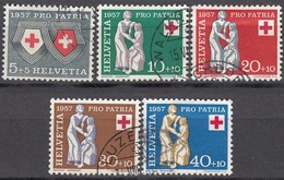 SCHWEIZ  641-645, Gestempelt, Pro Patria 1957, Rotes Kreuz - Pro Patria