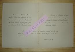 FAIRE-PART MARIAGE 1881 NORMAND # CHABOT Châtellerault Vienne - Mariage