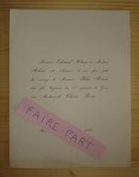 FAIRE-PART MARIAGE 1884 ALEXIS # ROUX Aix-en-Provence - Mariage