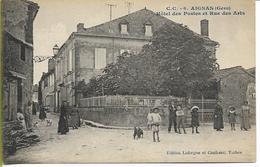 AIGNAN  (Gers) Hôtel Des Postes Et Rue Des Arts - Altri Comuni