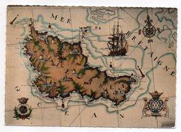 BELLE ILE EN MER  -1961 --carte Géographique D'après Aquarelle De Pierre CADRE --  Timbre -  Cachet--Belle Carte - Belle Ile En Mer