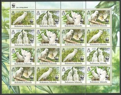 2013 Solomon Islands WWF Solomon's Cockatoo Sheetlet (** / MNH / UMM) - W.W.F.