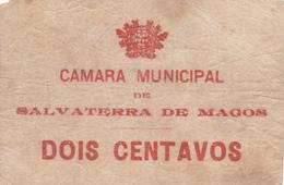 Portugal -  2-cédulas De Salvaterra De Magos Nºs 1954 -1955 --1 E 2 Centavos - Portugal